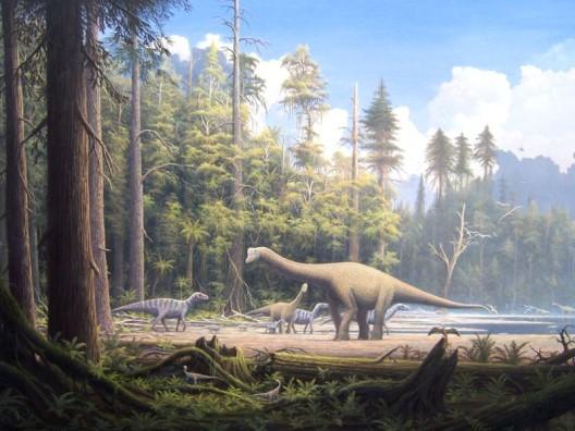 Die Zeit Der Dinosaurier ökosystem Erde