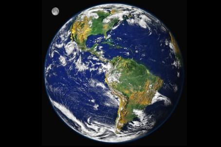 Satellitenbild der erde abbildung der nasa
